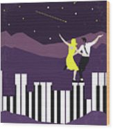 No756 My La La Land Minimal Movie Poster Wood Print