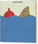 No774 My The Life Aquatic With Steve Zissou Minimal Movie Poster Wood Print