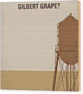 No795 My Whats Eating Gilbert Grape Minimal Movie Poster Wood Print