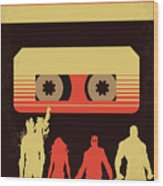 No812 My Guardians Of The Galaxy Minimal Movie Poster Wood Print
