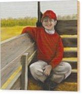 Noah On The Hayride Wood Print
