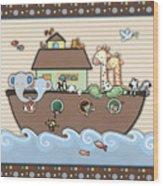 Noah's Ark Wood Print by Cheryl Marie