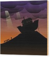 Noah's Ark Discovery Wood Print by Nestor PS