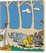 Noah's Ark Wood Print by Genevieve Esson