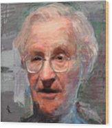 Noam Chomsky Portrait 1059 Wood Print