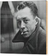 Nobel Prize Winning Writer Albert Camus Unknown Date #2 -2015 Wood Print