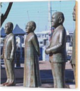 Nobel Square  /  To Honor South Africa's Four Nobel Peace Prize Laureates Wood Print