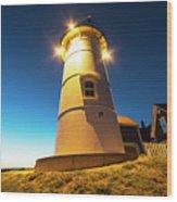 Nobska Light Falmouth Ma Cape Cod Window Shadow Wood Print