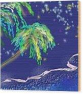 Noche Tropical Wood Print
