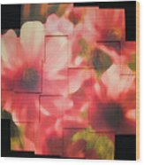 Nocturnal Pinks Photo Sculpture Wood Print