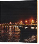 Nocturne Boat Wood Print