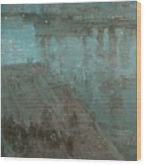 Nocturne In Blue And Gold Valparaiso Wood Print
