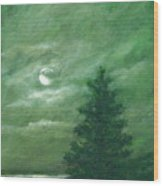 Nocturne In Green Wood Print