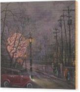 Nocturne In Lavender Wood Print