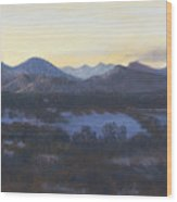 Nocturne On The Front Range Of Colorado Wood Print