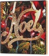 Noel Ornament Wood Print