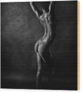 Noir Back Wood Print