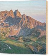 Nokhu Crags Sunrise Wood Print