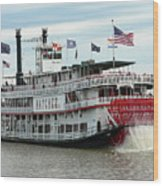 Nola Natchez Riverboat Wood Print