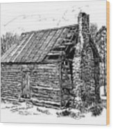 Nolan Corners Sharecropper's Shack Wood Print