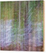 Noland Creek Abstract 1 Wood Print
