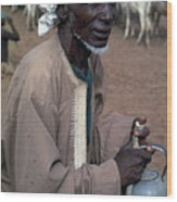 Nomad In Senegal Wood Print