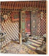 Nomad Yurt Wood Print