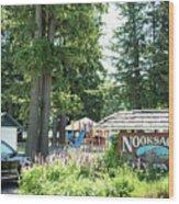 Nooksack City Park Wood Print