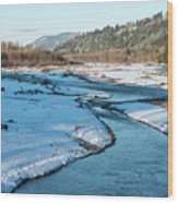 Nooksack River On A December Afternoon Wood Print