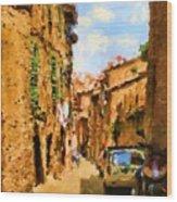 Noon In Sienna Wood Print