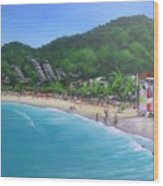 Noosa Fun Acrylic Painting Wood Print
