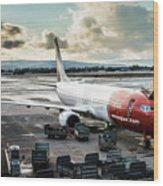 Norwegian Jet Wood Print