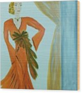 Nora-an Art Deco Lady Wood Print