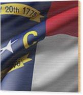 Norh Carolina State Flag Wood Print