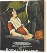 Norma Talmadge In The Probation Wife 1919 Wood Print