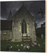 Norman Church At Lissing Hampshire England Wood Print
