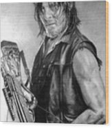 Norman Reedus Wood Print