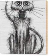 Norman The Cat Wood Print