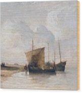 Normandy Coast Wood Print