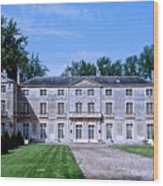 Normandy Manor House Wood Print