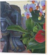 Norma's Buddha Wood Print