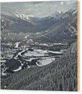Norquay Banff Town Views Wood Print