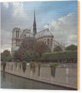 Norte Dame De Paris Wood Print