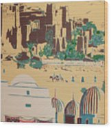 North African Landscape Wood Print
