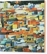 North African Townscape Wood Print