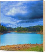 North Alder Lake Wood Print