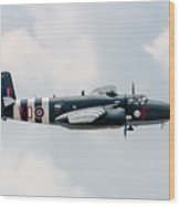 North American B-25 Hot Gen -starboard Side Wood Print