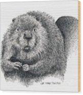 North American Beaver Wood Print