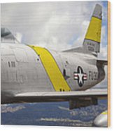 North American F-86 Sabre Wood Print