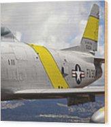North American F-86 Sabre Wood Print